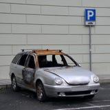 Auto gebrannt Lizenzfreies Stockfoto