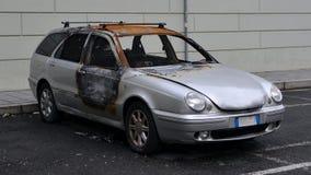 Auto gebrannt Lizenzfreies Stockbild