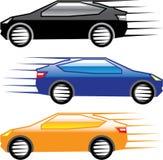 Auto-gehender schneller Vektor Lizenzfreie Stockfotos