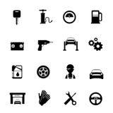 Auto geplaatste de dienst vlakke pictogrammen vector illustratie