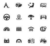 Auto geplaatste pictogrammen Stock Afbeeldingen