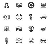 Auto geplaatste pictogrammen Stock Foto