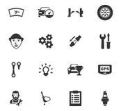 Auto geplaatste pictogrammen Stock Afbeelding