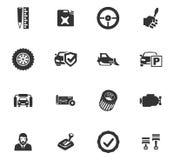 Auto geplaatste pictogrammen Royalty-vrije Stock Foto's