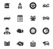 Auto geplaatste pictogrammen Royalty-vrije Stock Afbeeldingen