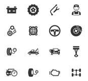 Auto geplaatste pictogrammen Royalty-vrije Stock Afbeelding
