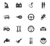 Auto geplaatste pictogrammen Stock Fotografie