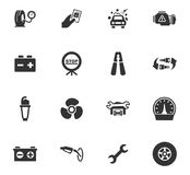 Auto geplaatste pictogrammen Royalty-vrije Stock Foto