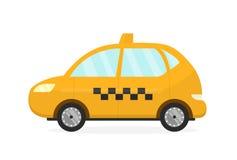 Auto gialla del taxi Vettore pianamente moderno royalty illustrazione gratis