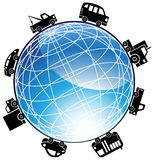 Auto Globe Icon Stock Photos