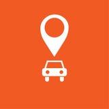 Auto GPS-Ikone, einfache Vektorillustration Stockbild