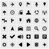 Auto gps-Navigationsanlage-Ikonensatz lizenzfreie abbildung