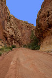 Auto on Grand Wash Road Capitol Reef National Park Royalty Free Stock Photography