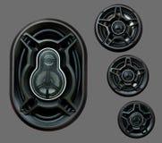 auto högt sound högtalaresystem Royaltyfria Bilder