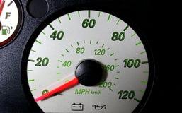 Auto hastighetsmätare Fotografering för Bildbyråer