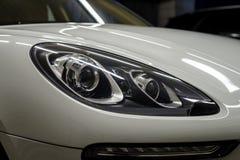 Auto headlights. Car exterior background Stock Image