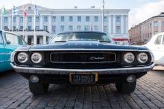 Auto Helsinkis, Finnland alter Dodge-Herausforderer Stockbilder