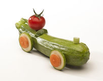 Auto hergestellt mit Gemüse Stockbild