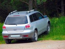 Auto in het bos Stock Afbeelding