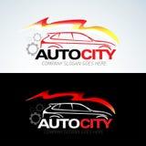 Auto het embleemmalplaatje van de stadsauto, Autoauto's, Autoembleem, Snelheid, automobiel, auto de dienstenembleem, het embleem  stock illustratie