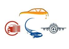 Auto het embleemmalplaatje van het voertuig royalty-vrije illustratie