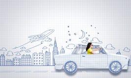Auto het reizen Royalty-vrije Stock Afbeeldingen