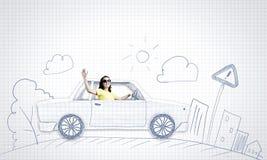 Auto het reizen Stock Foto