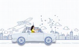 Auto het reizen Stock Afbeelding