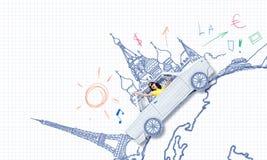 Auto het reizen Royalty-vrije Stock Foto