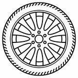 Auto hjuldisketthjul Rim Tire Disc Arkivfoton