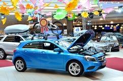 Auto showroom exhibition stock photography