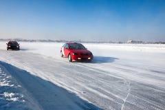 Auto ice racing Stock Image