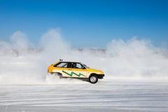 Auto ice racing Stock Photos