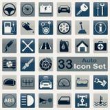 Auto icon set Stock Photo