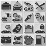 Auto - Icon Set Royalty Free Stock Photo