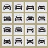 Auto icon. Vector black auto icon set on white Stock Photos