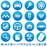 Auto icons Royalty Free Stock Images