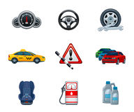 Auto icons Royalty Free Stock Photos