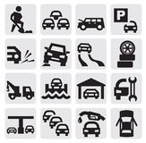 Auto icons Royalty Free Stock Image