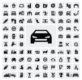 Auto icons Royalty Free Stock Photography