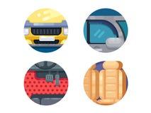 Auto icons set Royalty Free Stock Photo
