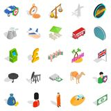Auto icons set, isometric style Stock Images