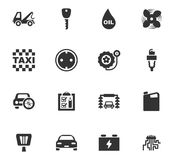Auto icons set. And symbols for web user interface Royalty Free Stock Image