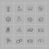Auto icons set Stock Photo