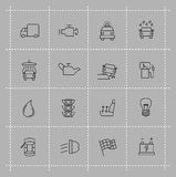 Auto icons set Stock Image