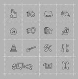Auto icons set Royalty Free Stock Photography