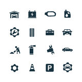 Auto icons set Royalty Free Stock Images