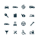 Auto icons set Stock Photography