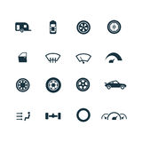 Auto icons set Royalty Free Stock Photos