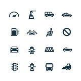 Auto icons set Royalty Free Stock Photography